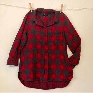 Madewell red/gray flannel